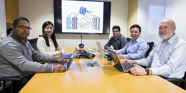 Argonne team members (from left to right): Rajeev Assary, Cong Liu, Badri Narayanan, Anh Ngo and Larry Curtiss.