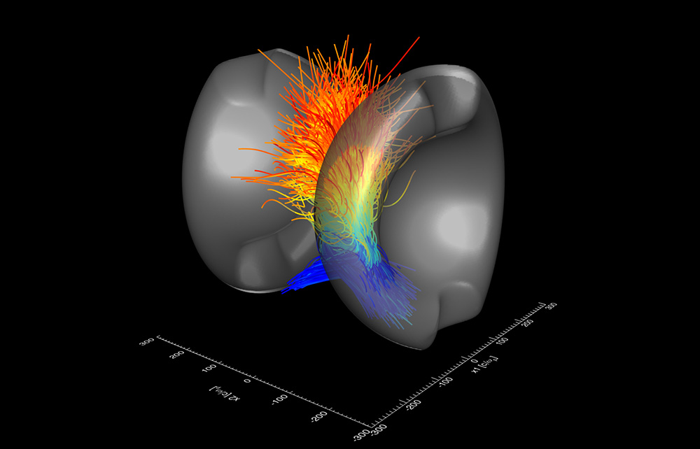 Visualization of particle acceleration in magnetic reconnection
