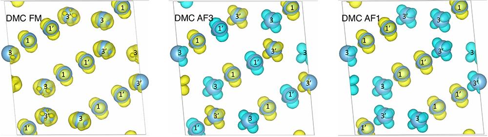 Diffusion Monte Carlo spin densities for Ti4O7