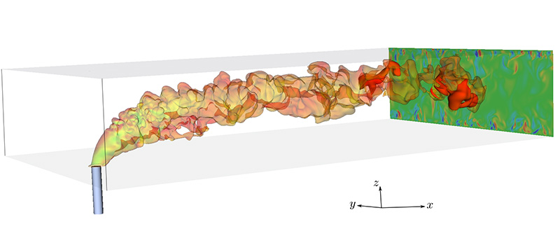 Direct Numerical Simulation of Autoignition in a Jet in a Cross-Flow