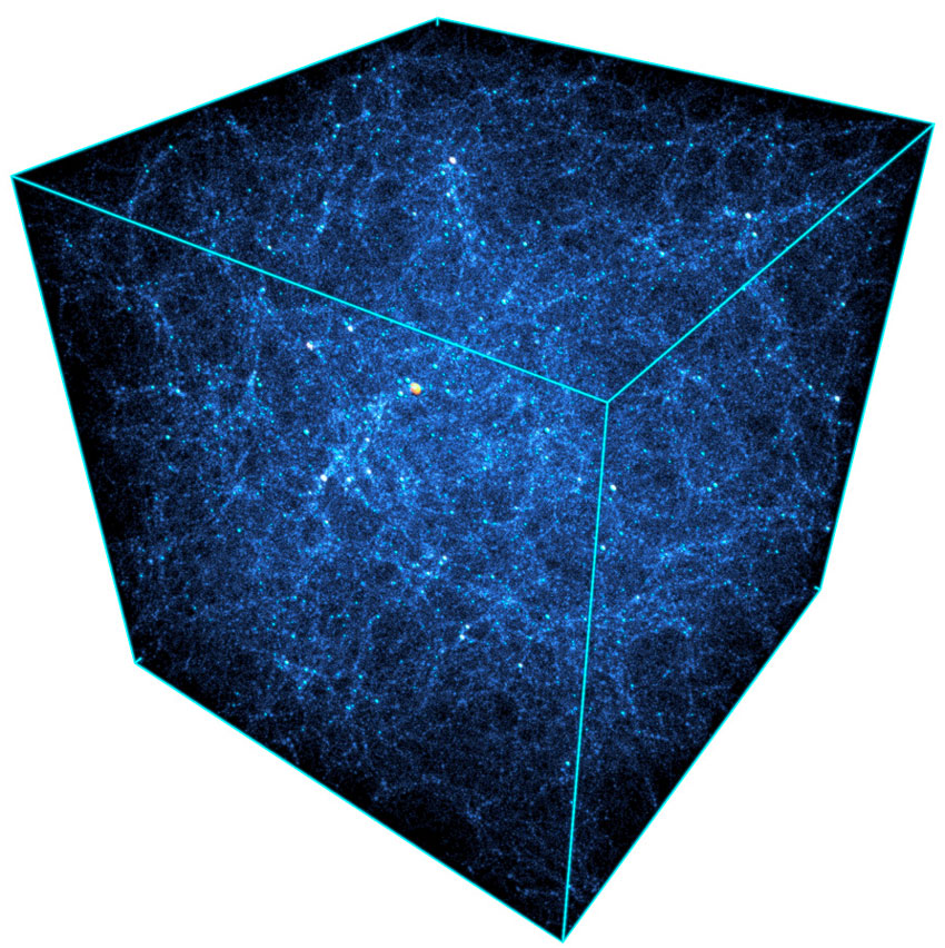 Dark matter halo distribution from the Outer Rim simulation carried out on 32 racks of Mira