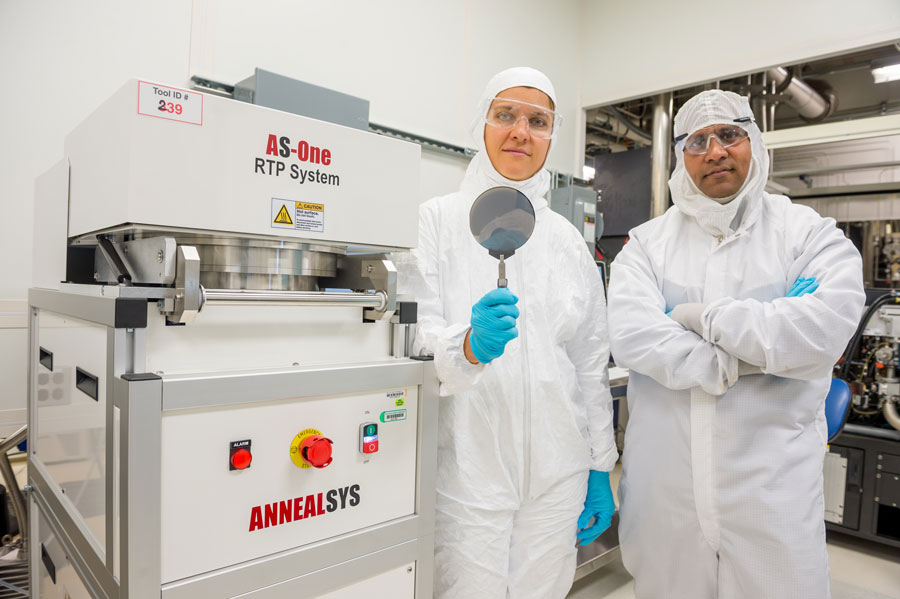 Former Argonne postdoctoral researcher Diana Berman and Argonne nanoscientist Anirudha Sumant, along with several collaborators, developed a new and inexpensive way to grow pure graphene using a diamond substrate.