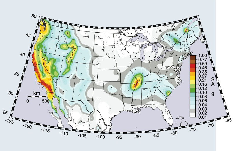 Using Supercomputers To Improve Seismic Hazard Maps Argonne - Seismic-map-of-us