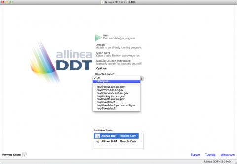 DDT configure new remote launch