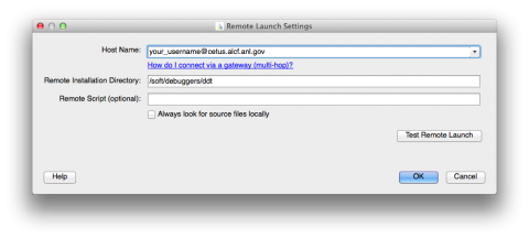 DDT Remote Launch Settings
