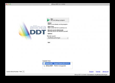 DDT start a run