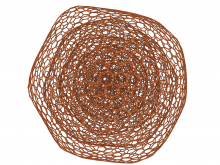 Atomistic simulations indicate that both silicon and molybdenum induce structural degradation of nanodiamonds: silicon induces rapid amorphization of the diamond lattice and the amorphous carbon subsequently transforms into carbon onions (pictured) which lead to a near frictionless state.