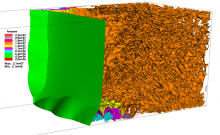 Three-dimensional view of shock reflection in a square tube