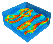 This visualization shows the increased plasma density inside flux ropes