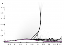 Large-Eddy Simulation of the Bachalo-Johnson Flow, with