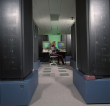 SP1, the world's largest parallel processing supercomputer, in 1993