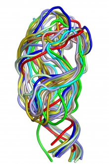 3D structure of adenine riboswitch RNA