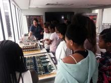 Jini Ramprakash teach the girls about supercomputer hardware