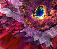 Turbulent envelope of a luminous blue variable star
