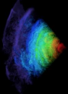 Type 1a Supernova rendering