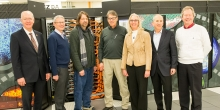 Secretary of Energy Rick Perry tours the ALCF machine room.