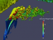 Adaptive Detached Eddy Simulation of a Vertical Tail with Active Flow Control