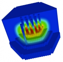 Scalable, Explicit Geometry, Whole-Core Nuclear Reactor Simulations