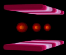 Multiple-bunch simulation of the Fermilab Booster particle accelerator