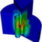 Advanced Test Reactor Geometry and UNIC Flux Solution; fast flux.