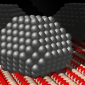 Metal nanoparticles supported on the surface of metal-oxides
