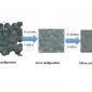 molecular dynamics demonstrating the sintering mechanism under the influence of e-field