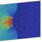 8 million atom molecular dynamics simulation