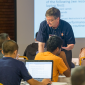Bill Gropp works with students during ATPESC 2015