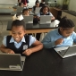 Students from Frazier International Magnet School in Chicago
