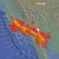 Ground motion simulations reveal regions at risk of strong shaking during a possible magnitude-8 earthquake on the San Andreas fault