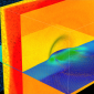 Billion atom reactive molecular dynamics simulation of nanobubble collapse in wa