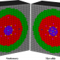 Scalable, Explicit Geometry, Whole Core Nuclear Reactor Simulations
