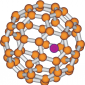 A metallofullerene molecule