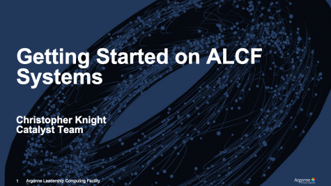 Getting Started on ALCF Systems