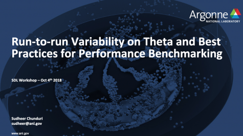 Run-to-run Variability on Theta and Best Practices for Perfomance Benchmarking