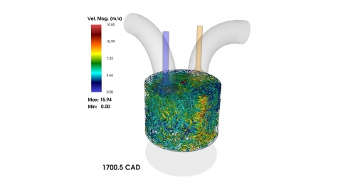 Simulation of the compression stroke of an internal combustion engine