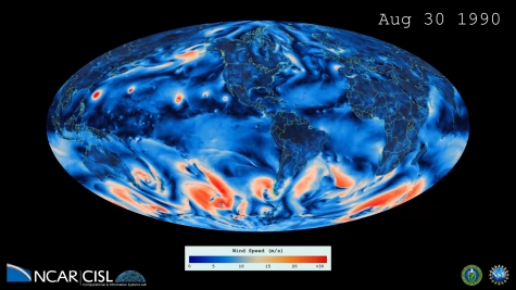 a present-day simulation with a 1/4 degree horizontal resolution atmosphere
