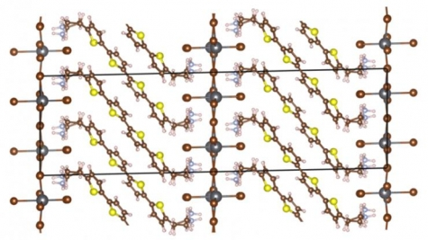 Molecular structure of the layered hybrid perovskite.