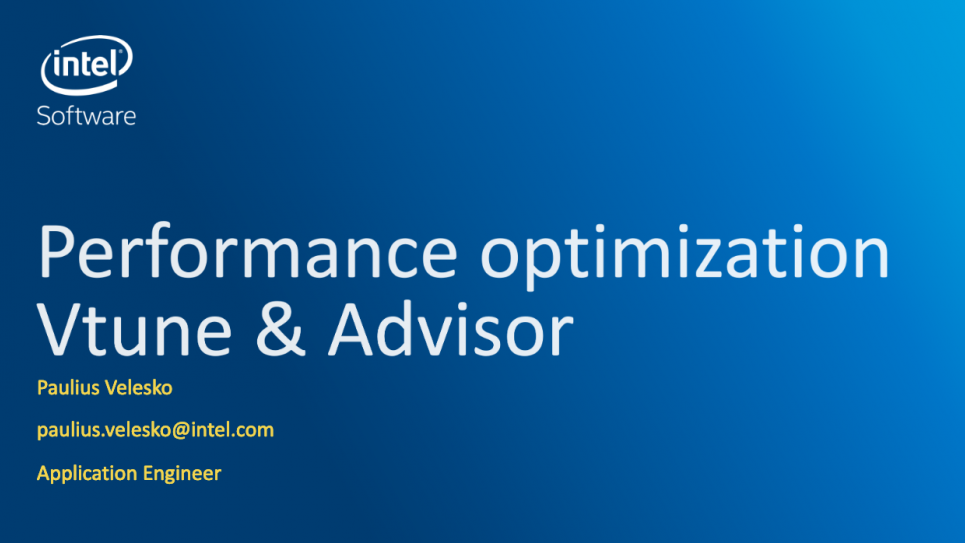 Profiling Application Performance Using Intel Vtune and Advisor