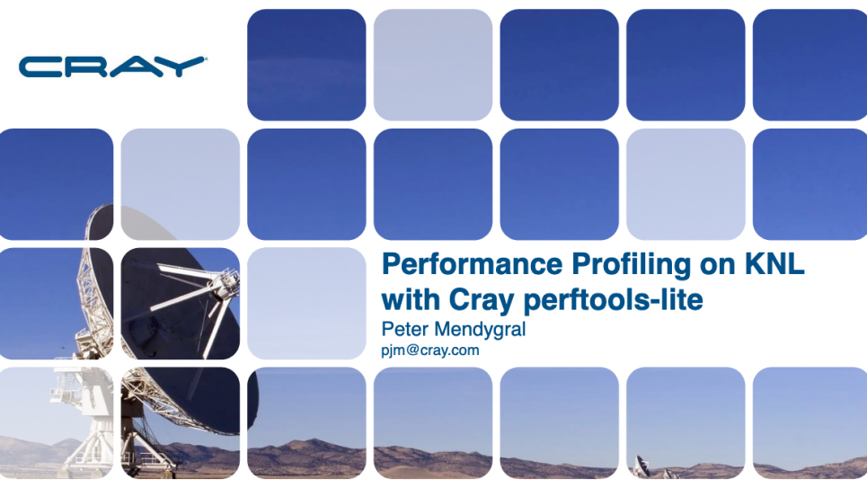 Performance Profiling on KNL with Cray perftools-lite