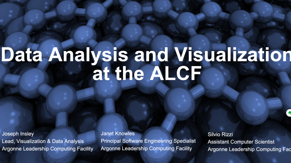Data Analysis and Visualization at the ALCF
