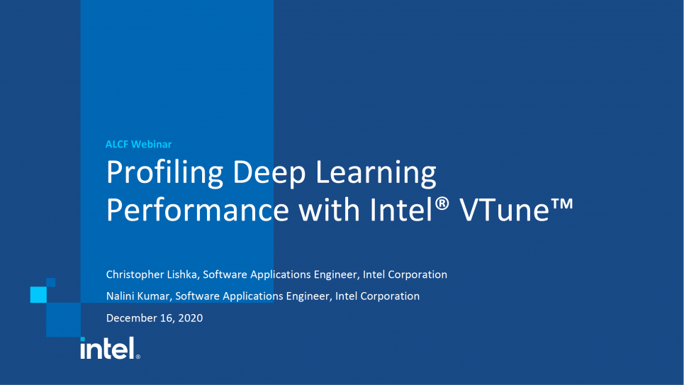 Profiling Deep Learning Performance with Intel VTune