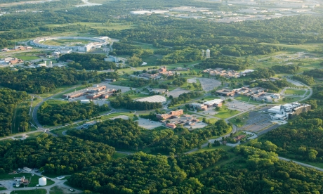 Arial view of the Argonne campus
