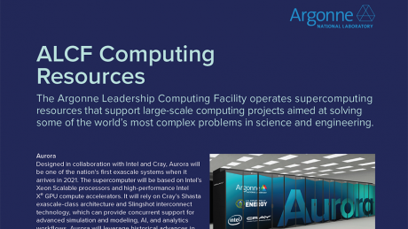 ALCF Computing Resources Fact Sheet (May 2020)